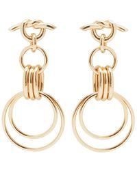 Eshvi - Hula Hoops Pair Earrings - Lyst