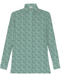 My Pair Of Jeans Patty Green Printed Shirt