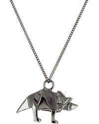Origami Jewellery - Mini Triceratop Gun Metal - Lyst