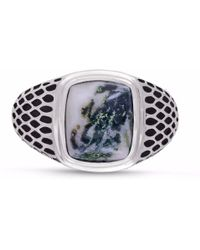 LMJ Tree Agate Stone Ring - Multicolor