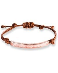 Ona Chan Jewelry | Corded Bracelet With Rose Quartz | Lyst