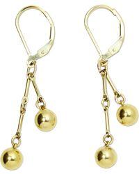 Alison Fern Jewellery - Dolly Gold Orb Earrings - Lyst