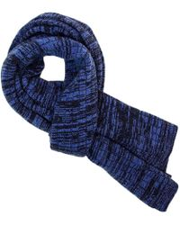 40 Colori - Navy Melange Wool & Cashmere Scarf - Lyst
