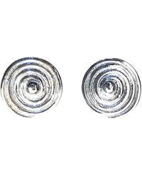 Elena Jewelry Concepts Silver Spiral Stud Earrings - Metallic