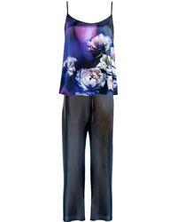 StephieAnn Purple Silk Pajamas