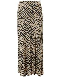 Baukjen Zuri Skirt In Sand & Black Zebra - Multicolour