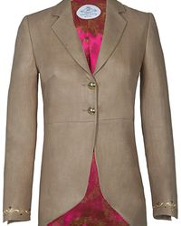 The Extreme Collection - Frac Beige Blazer With Details - Lyst