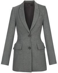 Flow Tailored Blazer In Grey - Gray