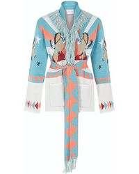 Hayley Menzies - Short Sunrise Rodeo Cardi-coat Turquoise - Lyst