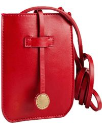 afd9d52a8958 Charlie Baker London - Cambridge Leather Phone Crossbody Bag Red - Lyst