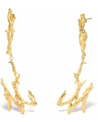 Loveness Lee - Poseidon Long Gold Dangle Earrings - Lyst