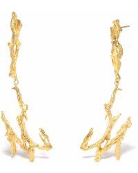Loveness Lee Poseidon Long Gold Dangle Earrings - Metallic