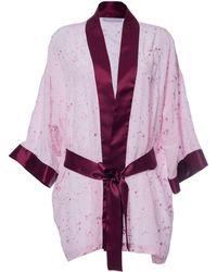 Roses Are Red Sonata For The Dawn Kimono Pink - Purple