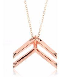 Sonal Bhaskaran Pala Chevron Necklace Rose Gold - Metallic