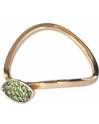 Sadekar Jewellery - Shuttle Ring In Garnet - Lyst