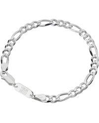 Scream Pretty Silver Figaro Chain Bracelet - Metallic