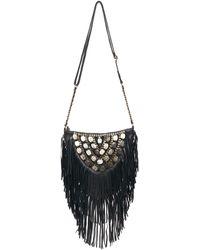 Lilla Lane Cosmic Gallery Crossbody Fringe Bag Black