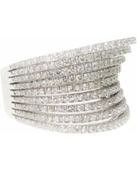 Ri Noor - Diamond Rows Ring - Lyst