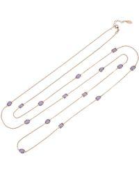LÁTELITA London - Venice 120cm Long Chain Necklace Rosegold Amethyst - Lyst