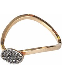 Sadekar Jewellery - Shuttle Ring In Black Diamond - Lyst