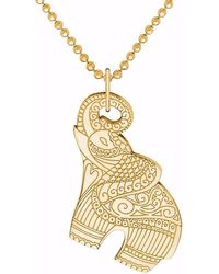 CarterGore Gold Elephant Pendant Necklace - Metallic