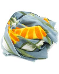 Doria & Dojola Foulard Big Flower Sky Orange - Multicolour