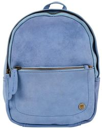 MAHI Mini Backpack In Pastel Blue Suede Leather
