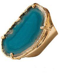 Tiana Jewel - Elyssia Blue Agate Cuff Ring - Lyst