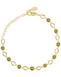 LÁTELITA London Milan Link Gemstone Bracelet Gold Peridot - Metallic