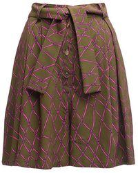 TOMCSANYI Baing High Waisted Shorts - Green