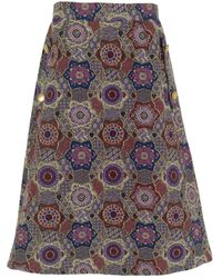 relax baby be cool Multicolour Midi Skirt With Pockets Blue