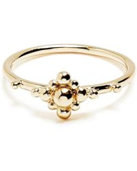 Agnes De Verneuil - Gold Ring Flower Beads - Lyst
