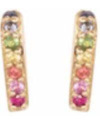 XISSJEWELLERY - Gold & Rainbow En Pointe Stud Earrings - Lyst