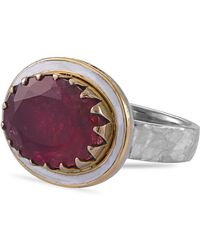 Emma Chapman Jewels The Rubellite Tourmaline Viva Ring - Multicolour