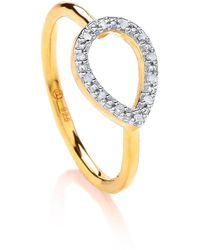 Dione London - Nyx Diamond Tear Ring - Lyst