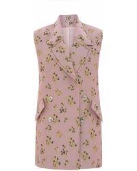 Vielma.London - Pink Sleeveless Blazer - Lyst