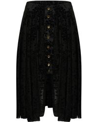 A - M M - E - Victoriana Riding Skirt In Black Velour Lace - Lyst