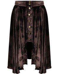 A - M M - E - Victoriana 'riding' Skirt In Silk Velvet - Lyst
