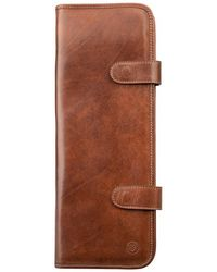 Maxwell Scott Bags - Luxury Italian Leather Men's Travel Tie Case Tivoli Classic Chestnut Tan - Lyst