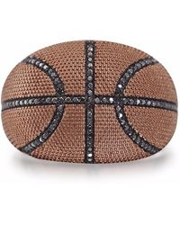 LMJ Slam Dunk Basketball Ring - Metallic