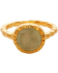 Carousel Jewels - Chalcedony Gold Textured Ring - Lyst
