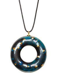 Tadam! Design - Blue Chameleon Doughnut Pendant Necklace - Lyst