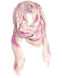 Asneh Lotus Scarf Nimbus Cloud & Pink