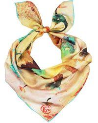 UnPaired - Wish Dandelion Ladies Square Silk Scarf - Lyst