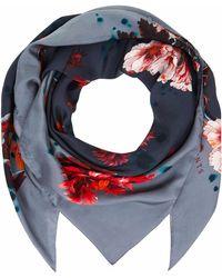 Klements - Medium Scarf In Gothic Floral Print Petrol - Lyst