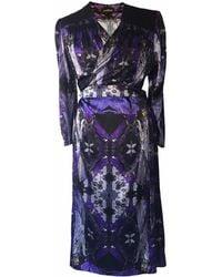 Jennifer Rothwell Madeline Print Wrap Dress - Blue