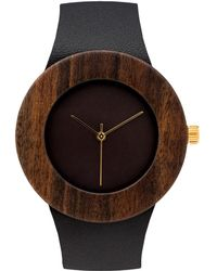 Analog Watch Co. - Leather & Blackwood Without Hour Markings - Lyst