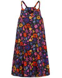 TOMCSANYI Igal Button Front Cami Dress Doodle Flower - Multicolour