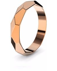 MARCELLO RICCIO - Faceted Rose Gold Plated Ring - Lyst
