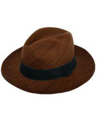 Alpachura - Brown Panama Hat - Lyst